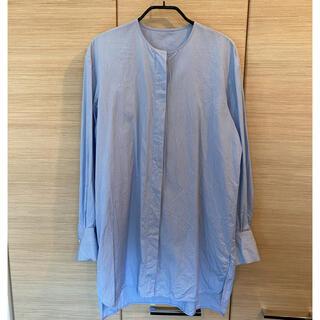 TOMORROWLAND - トゥモローランド ストライプノーカラーシャツ