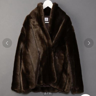 BEAUTY&YOUTH UNITED ARROWS - 6 ROKU FAKE MINK FUR COAT ミンクファーコート