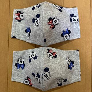 ディズニー(Disney)の最新柄❣️おとなしめユニオンジャックカラーリボン ミッキー&ミニーマスク(その他)