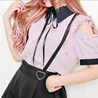 MA*RS - 【即購入◎】MARS 配色肩あきブラウス ピンク