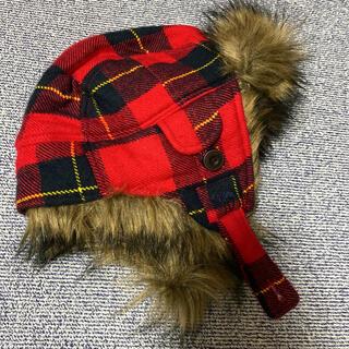 アバクロンビーアンドフィッチ(Abercrombie&Fitch)のアバクロ  耳当て付帽子(ニット帽/ビーニー)