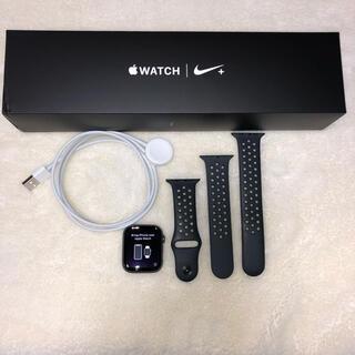 アップルウォッチ(Apple Watch)のApple watch 4 GPS NIKE+  44mm アルミニウム(腕時計(デジタル))