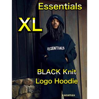 フィアオブゴッド(FEAR OF GOD)のFOG Essentials エッセンシャルズ ニット パーカー ブラック XL(パーカー)