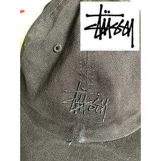 STUSSY - STUSSY stussy ステューシー キャップ 黒 定番 シンプル 品薄色