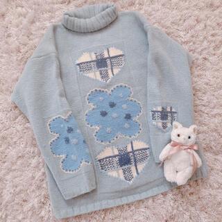 サンタモニカ(Santa Monica)の今週限定 レア ice blue knit(ニット/セーター)