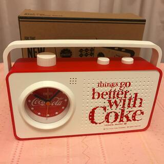 コカコーラ(コカ・コーラ)の Coca-Cola ラジオアラームクロック 未使用(ラジオ)