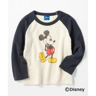 ディズニー(Disney)のライトオン mickey ラグランTシャツ ロンT トレーナー 110 120(Tシャツ/カットソー)