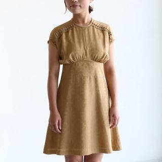 マメ(mame)のmame kurogouchi ドレス ワンピース サイズ2(ひざ丈ワンピース)