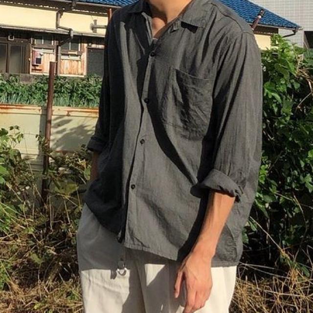 COMOLI(コモリ)のCOMOLI(コモリ)ヨリ杢 オープンカラーシャツ メンズのトップス(シャツ)の商品写真