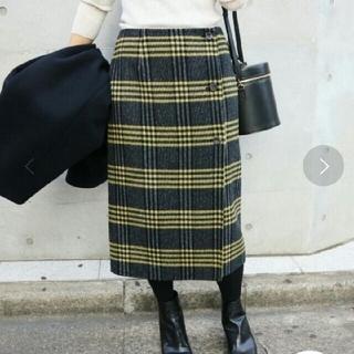 IENA - IENA Wフェイスリバーシブル ミッドカーフスカート◆