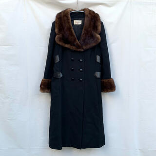Grimoire - 60's Fox fur trimmed double long coat
