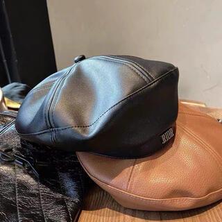 Dior - Dior ディオール レザー ベレー帽 新品未使用