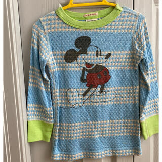 デニムダンガリー(DENIM DUNGAREE)のdenim dungaree ミッキーコラボシャツ 100(Tシャツ/カットソー)