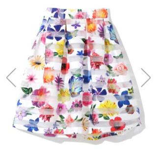 GRL - 新品 フローラル カラフル 花柄 スカート