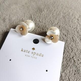 kate spade new york - 新品KateSpadeシェルフラワー&パールピアス