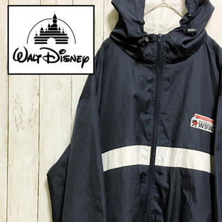 Disney - Disney ディズニー ナイロンジャケット ワンポイントロゴ