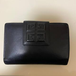 GIVENCHY - givenchy 財布 がま口 二つ折り ネイビー ジバンシー