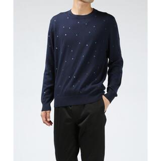 """Paul Smith - ポールスミス """"DOT EMBROIDERED CLEW NECK """" ニット"""