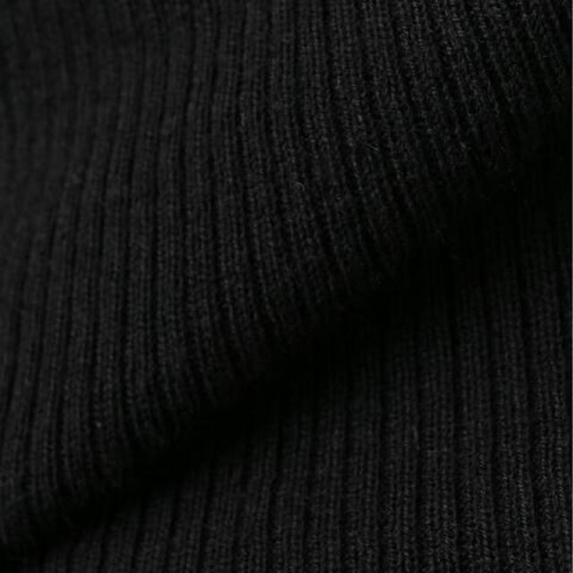 L'Appartement DEUXIEME CLASSE(アパルトモンドゥーズィエムクラス)のアパルトモン☆黒のタートルネックRib Knit レディースのトップス(ニット/セーター)の商品写真