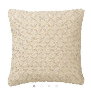 ムジルシリョウヒン(MUJI (無印良品))のコットンウール原毛色手織クッションカバー♡未使用、未開封(クッションカバー)