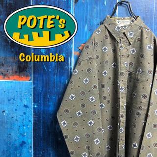 Columbia - 【コロンビア】ポケットロゴタグエスニックドット柄ビッグレトロ総柄シャツ