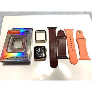 アップルウォッチ(Apple Watch)のApple watch season3 38mm セルラーモデル ゴールド 中古(腕時計(デジタル))