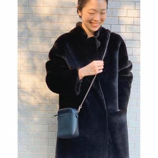 IENA - 極美品 【SMUK】フェイクムートンロングコート