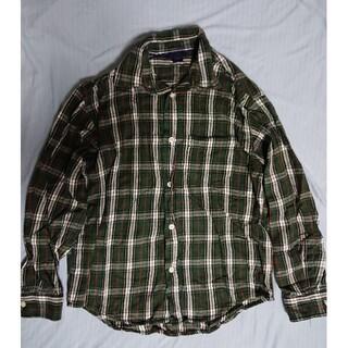ギャップキッズ(GAP Kids)のgapkids 160 チェック 緑 シャツ 綿100 コットン ギャップキッズ(ジャケット/上着)