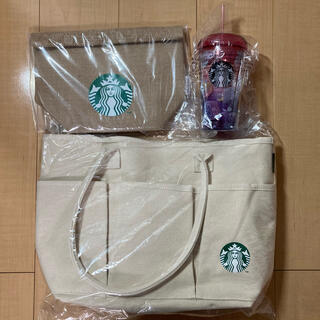 Starbucks Coffee - スタバ福袋2021 トートバック ランチバック タンブラー 3点セット