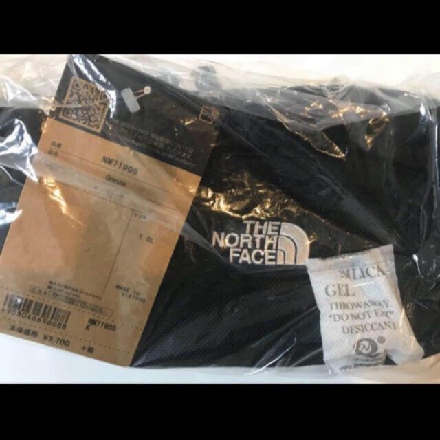 THE NORTH FACE(ザノースフェイス)の【未開封新品】ノースフェイス ボディバック 黒色 1.5L  刺繍ロゴ 男女兼用 レディースのバッグ(ボディバッグ/ウエストポーチ)の商品写真