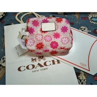 COACH - ⑪コーチ COACH 正規品 タグ付 新品未使用 エコバック 花柄 紙袋箱付き