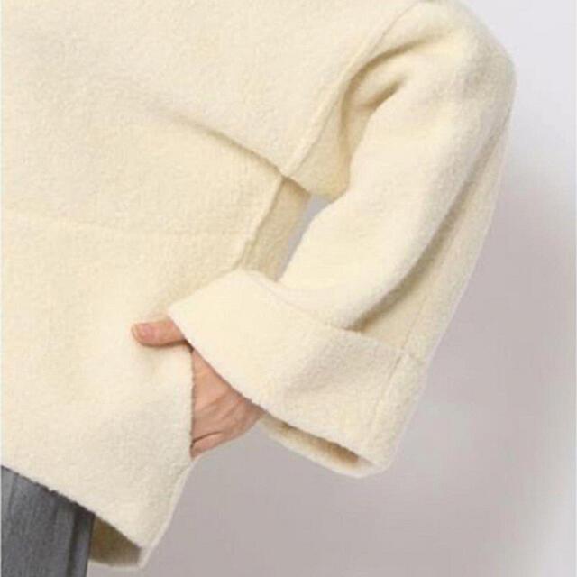 TOMORROWLAND(トゥモローランド)のGALERIE VIE ポケット付きウールブークレー ビルドネックプルオーバー レディースのトップス(ニット/セーター)の商品写真