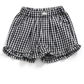 エフオーキッズ(F.O.KIDS)のアプレレクール 裾フリルショートパンツ ギンガムチェック(パンツ)