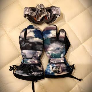 スノーボード 手袋 ゴーグル グローブ 小物 セット(ウエア/装備)