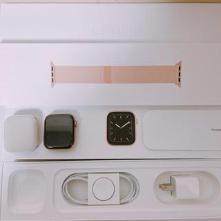 アップルウォッチ(Apple Watch)のApple Watch 5 44mm ゴールド ステンレスCellular(その他)