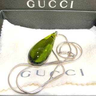 グッチ(Gucci)の正規品❣️GUCCI グッチ ネックレス ペリドットカラー シルバー 925(ネックレス)