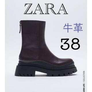 ZARA - 新品タグ付き ZARA ブーツ 38 24.5
