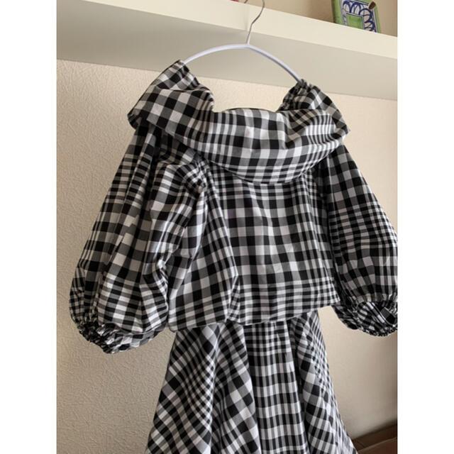 ENFOLD(エンフォルド)の[完売極美品]  ENFOLD ビックチェック ドレス ワンピース レディースのワンピース(ロングワンピース/マキシワンピース)の商品写真