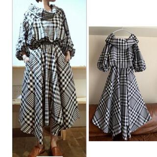 ENFOLD - [完売極美品]  ENFOLD ビックチェック ドレス ワンピース