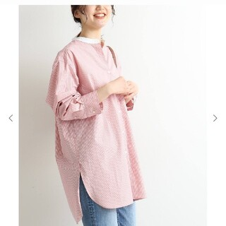 IENA - 新品タグ付き☆イエナ ストライプ バンドカラーシャツ
