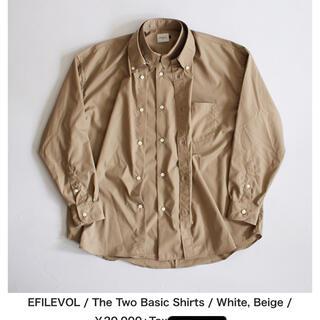 エフィレボル(.efiLevol)のThe Two Basic Shirts Beige ベージュ(シャツ)
