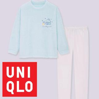 UNIQLO - ユニクロ×すみっコぐらしコラボ フリースルームウェア 110cm とかげたぴおか