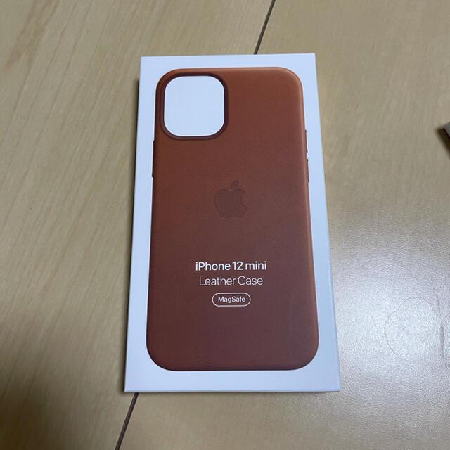 Apple(アップル)のiPhone12 mini 純正 レザーケース スマホ/家電/カメラのスマホアクセサリー(iPhoneケース)の商品写真