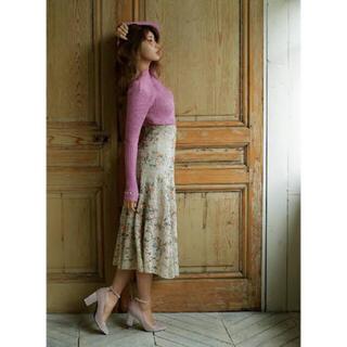 JILLSTUART - 【ほぼ新品】JILLSTUART ジルスチュアート カメル刺繍レーススカート