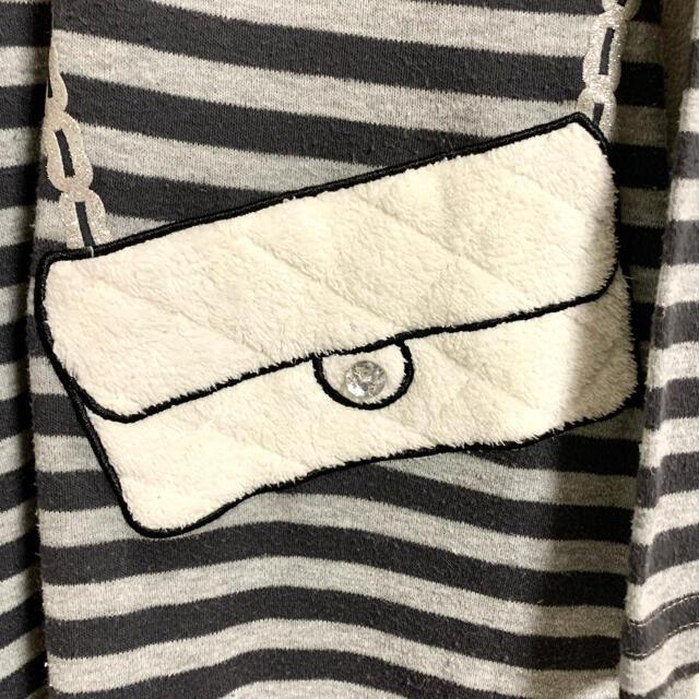 女の子 ポシェット柄ワンピース 120サイズ キッズ/ベビー/マタニティのキッズ服女の子用(90cm~)(ワンピース)の商品写真