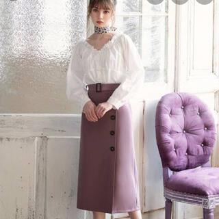 GRL - GRL グレイル ベルト付きラップデザインナロースカート