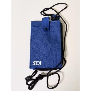 ロンハーマン(Ron Herman)のWIND AND SEA ×WEEKEND ID パスケース ブルー 未使用(ショルダーバッグ)