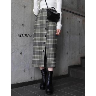 MURUA - 新品 MURUA チェックペンシルスカート