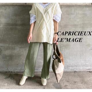 CAPRICIEUX LE'MAGE - 新品 カプリシューレマージュ サテンプリーツパンツ