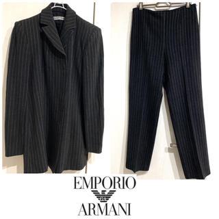 エンポリオアルマーニ(Emporio Armani)のアルマーニ 美品 イタリア製 クリーニング済み ロングジャケット スーツ上下(スーツ)